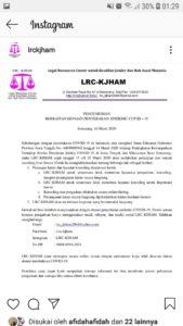 Pengumuman LRC-KJHAM